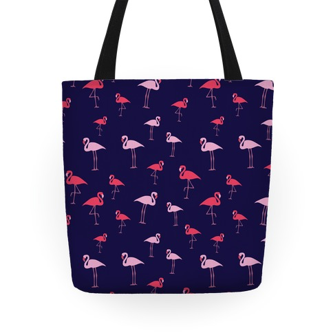 Flamingo Pattern (Navy) Tote