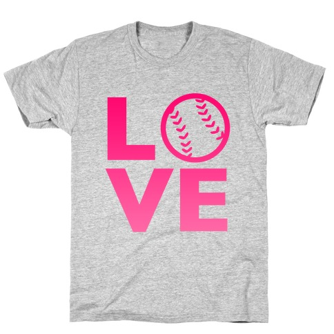 Love Baseball (Pink) T-Shirt