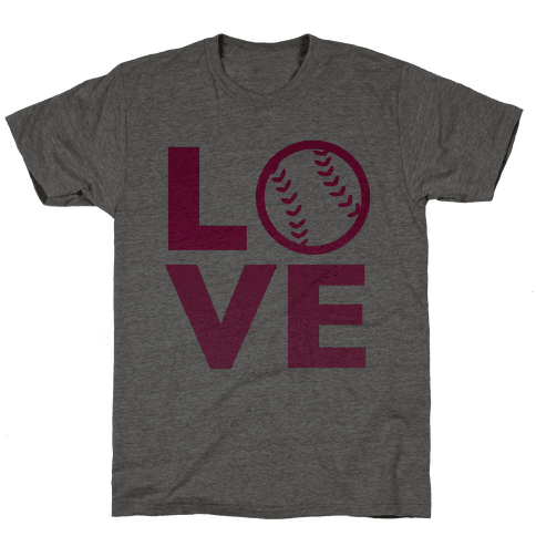 Love Baseball (Pink) Mens T-Shirt