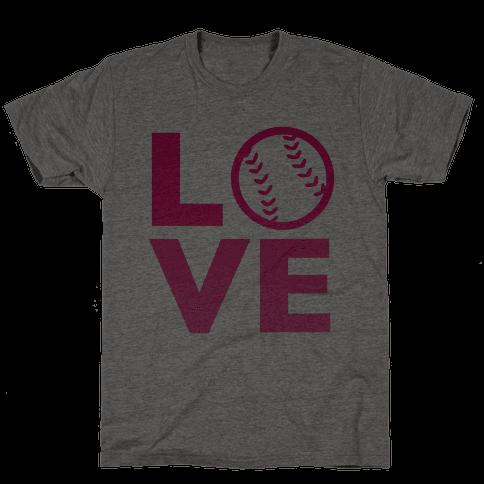 Love Baseball (Pink) Mens T-Shirt