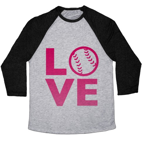 Love Baseball (Pink) Baseball Tee