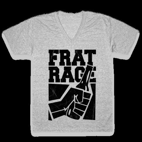 Frat Rage V-Neck Tee Shirt