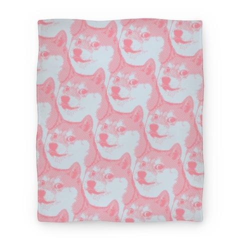 Doge Pattern (Pink) Blanket
