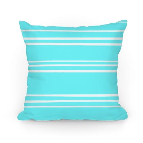 Teal Stripe Pattern Pillow