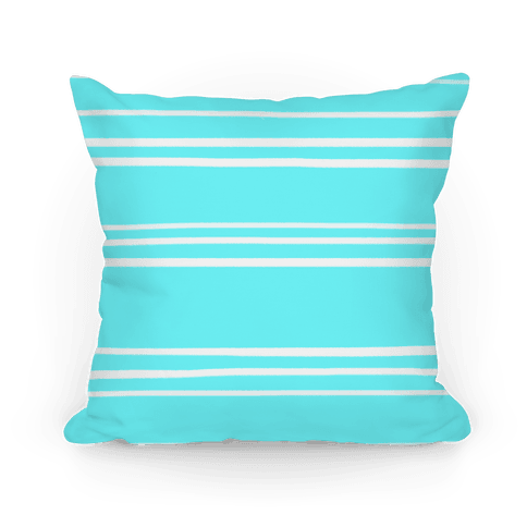 Teal Stripe Pattern Pillow