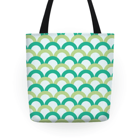 Green Scale Pattern Tote