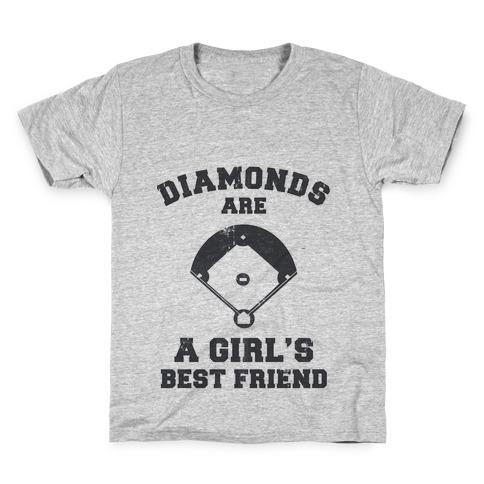 Diamonds are a Girls Best Friend (vintage athletic) Kids T-Shirt