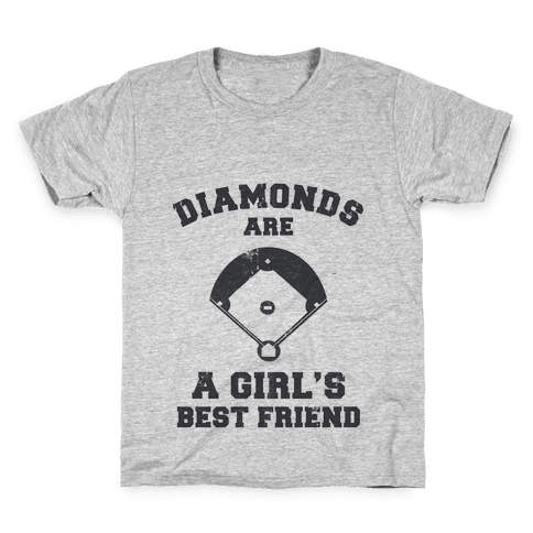 Diamonds are a Girls Best Friend (vintage athletic) Kids T-Shirt