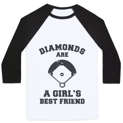Diamonds are a Girls Best Friend (vintage athletic)