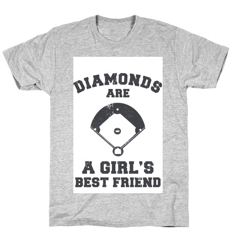 Diamonds are a Girls Best Friend (vintage athletic) T-Shirt