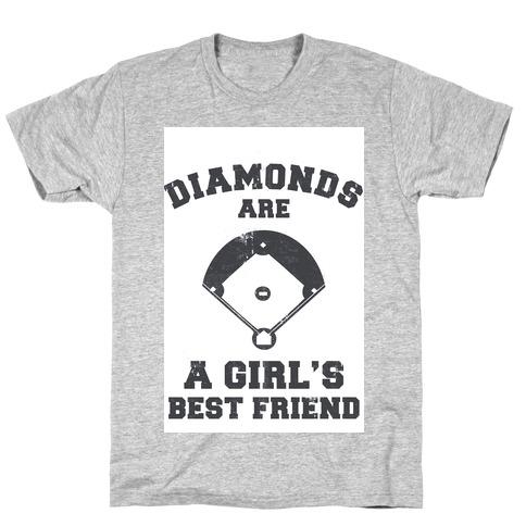 Diamonds are a Girls Best Friend (vintage athletic) T-Shirt