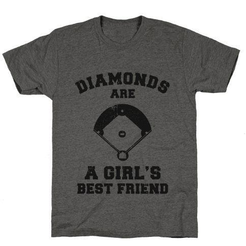 Diamonds are a Girls Best Friend (vintage athletic) Mens T-Shirt