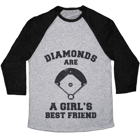 Diamonds are a Girls Best Friend (vintage athletic) Baseball Tee