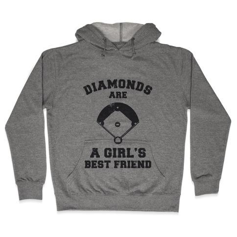 Diamonds are a Girls Best Friend (vintage athletic) Hooded Sweatshirt