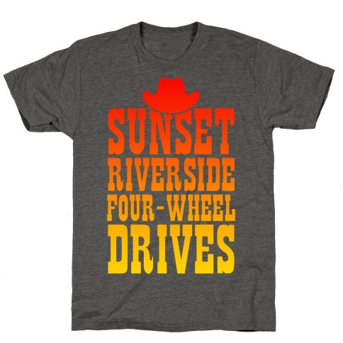 Sunset Riverside Four Wheel Drives T-Shirt