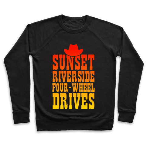 Sunset Riverside Four Wheel Drives Pullover