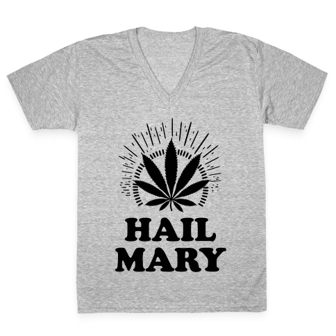 Hail Mary V-Neck Tee Shirt