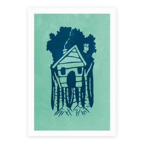 Yaga's House On Hen's Legs Poster