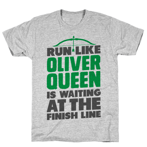 Run Like Oliver Queen is Waiting Mens T-Shirt