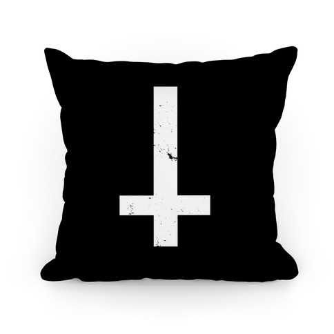 Upside Down Cross Pillow