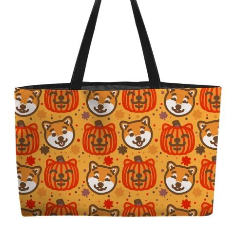 Shiba Inu Pumpkins Weekender Tote