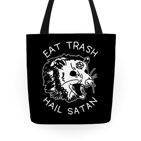 Eat Trash Hail Satan Possum Tote