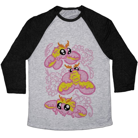 Rosy Maple Moths Baseball Tee