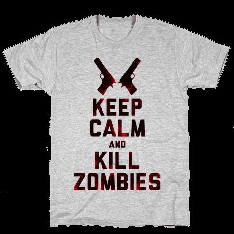 Keep Calm and Kill Zombies Mens T-Shirt