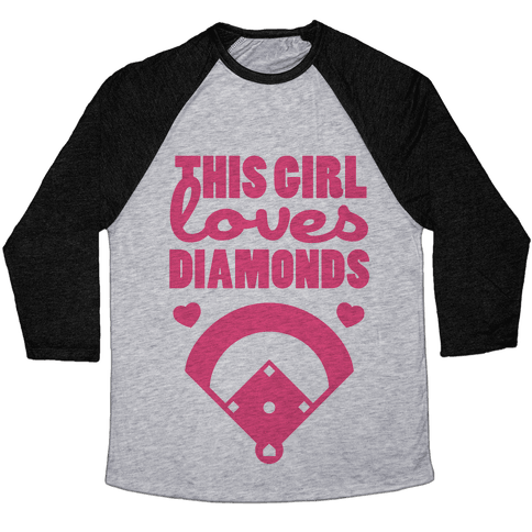 This Girl Loves (Baseball) Diamonds Baseball Tee