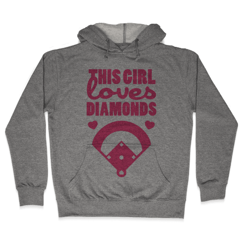 This Girl Loves (Baseball) Diamonds Hooded Sweatshirt