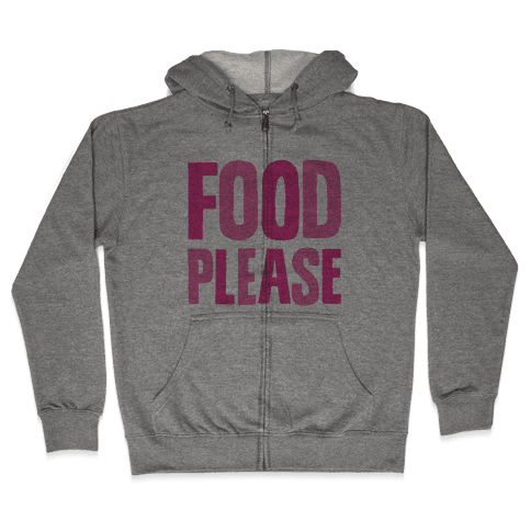 Food Please Zip Hoodie