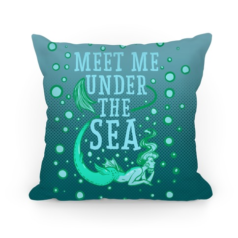 Meet Me Under the Sea Pillow