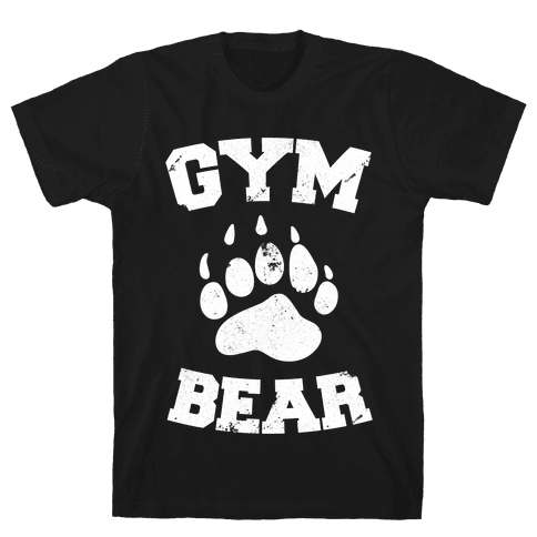 Gym Bear Mens T-Shirt