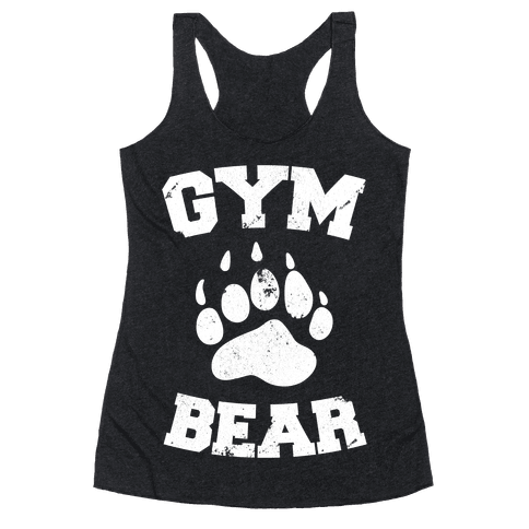 Gym Bear Racerback Tank Top