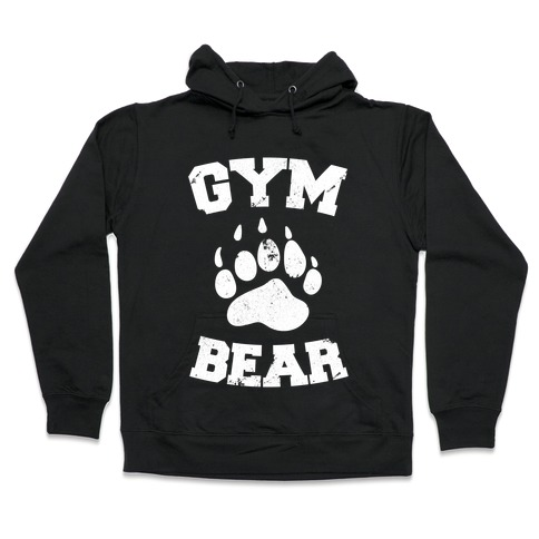 Gym Bear Hooded Sweatshirt