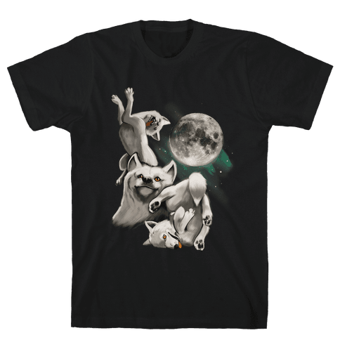 Three Wolf Moon Moon Mens T-Shirt