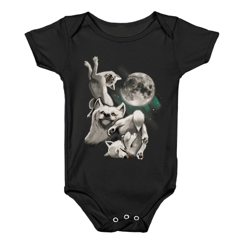 Three Wolf Moon Moon Baby Onesy