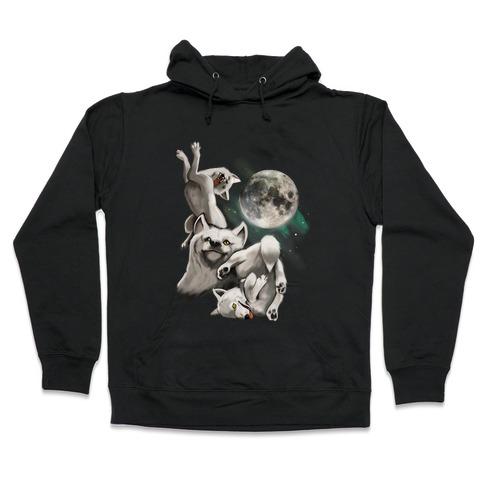 Three Wolf Moon Moon Hooded Sweatshirt