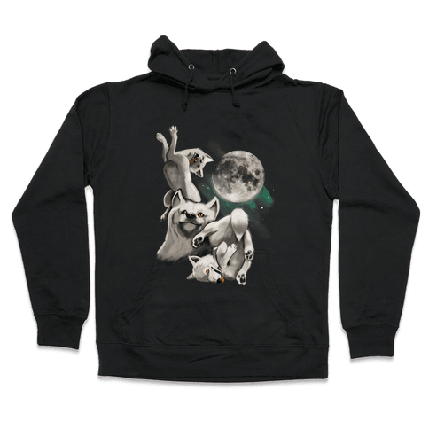 Three Wolf Moon Moon Hooded Sweatshirt