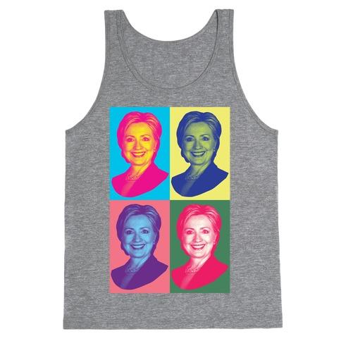 Pop Art Hillary Clinton Tank Top