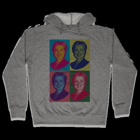 Pop Art Hillary Clinton Hooded Sweatshirt