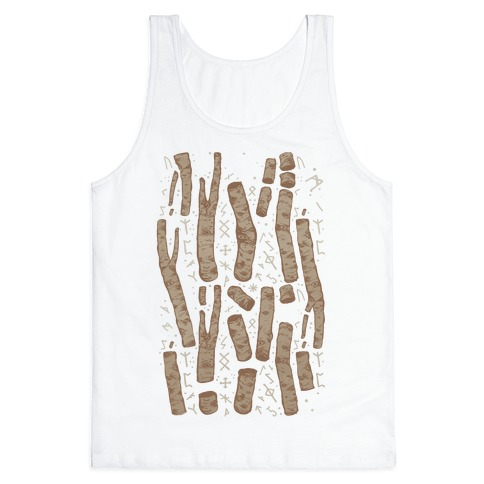Birch Trees and Runes Tank Top