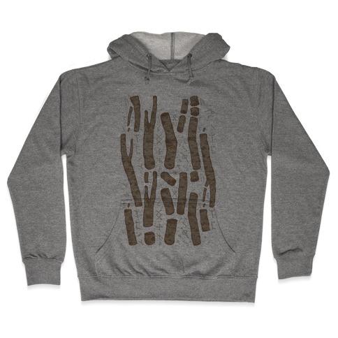Birch Trees and Runes Hooded Sweatshirt
