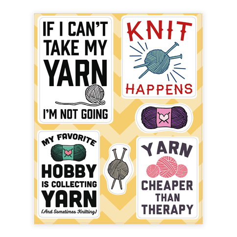 Yarn  Sticker/Decal Sheet