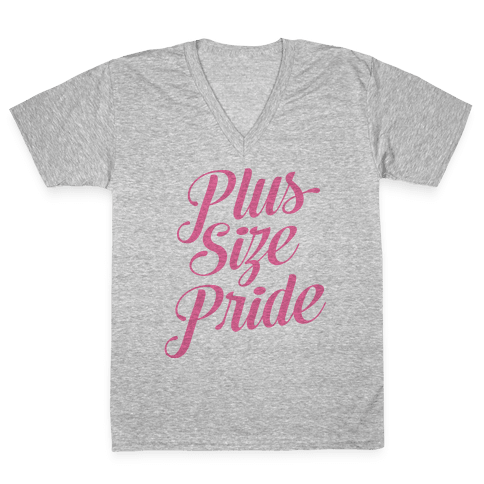 Plus Size Pride V-Neck Tee Shirt