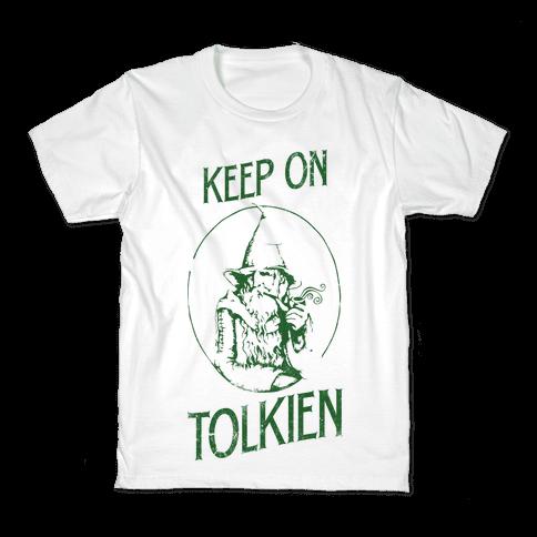 Keep On Tolkien! (Tank) Kids T-Shirt