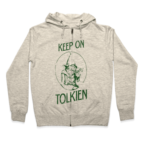 Keep On Tolkien! (Tank) Zip Hoodie