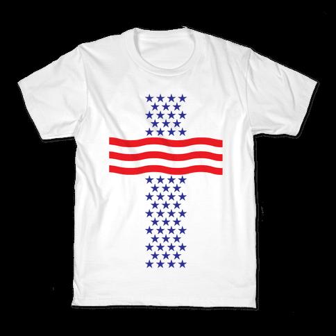 America Cross Kids T-Shirt