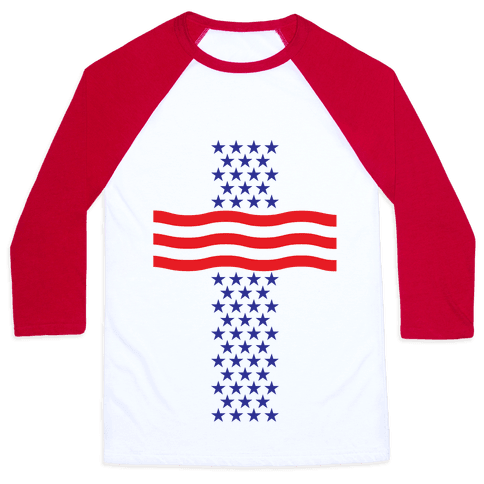 America Cross Baseball Tee