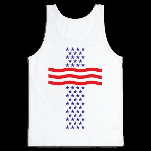 America Cross Tank Top